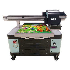12 צבעי דיו a2 אוטומטי tx6090 uv מדפסת מדפסת שטוחה