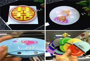 הדפסת דגימות של פלסטיק מ A1 גודל מדפסת UV 6090UV